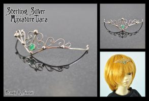 Miniature Silver Tiara by crazed-fangirl