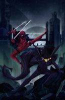 Deadpool vs Black Panther by Tigerhawk01