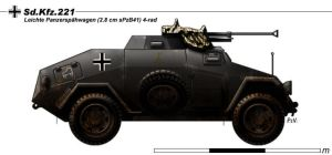 Sd.Kfz.221 by nicksikh