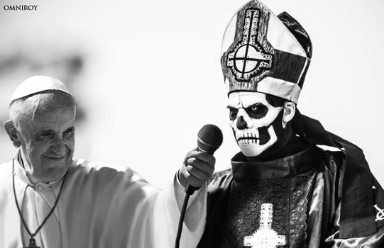 Pope Francis to release Rock Album with Ghost by OmniRoy