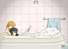 bathtub comfort by Schroscat
