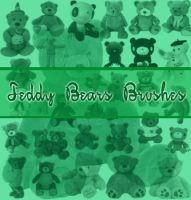 Teddy Bears Brushes by Miciaila