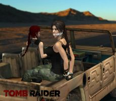 Cruising with Lara Croft by honkus2