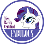 Miss Rarity's Seal of Fabulousness by sparklepeep
