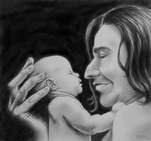 Snape Loves Babies by tripperfunster