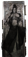 princess Leia Slave Carbonite by willartmaster