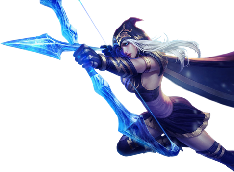 League of Legends Render: Ashe by Singularity01