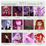 2013 Summary of Art by ChelseaDanger