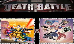 DEATH BATTLE Idea Animated X-men VS Animated JL by JefimusPrime