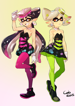 squid sisters by Colodraws