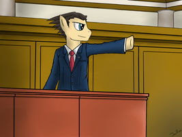 Phoenix Wright, Ace Pony Attorney by Jel0z