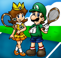Tennis partners by Nintendrawer