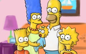 The Simpsons speedypainting - finished - wallpaper by speedy-painter