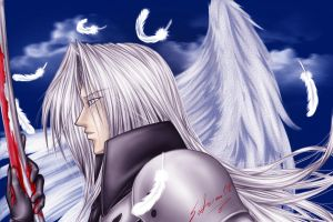 First Sephiroth-COLOR by Setsuna-Yagami