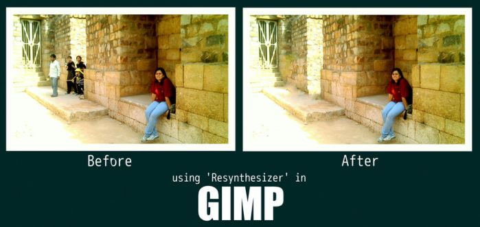 Resynthesizer in GIMP by swapnilnarendra
