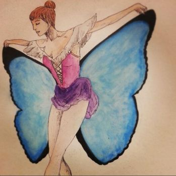 Finished Ballerina Sketch by hannahs98