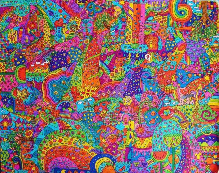 Psychedelic world by vazest