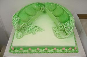 Pea pod baby cake by The-EvIl-Plankton