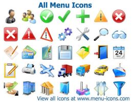All Menu Icons by Ikonod