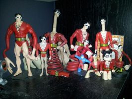 Plastic Man Figures by ayelid
