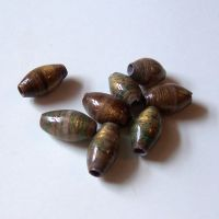 Upcycled Brown Paper Beads by SnowFox102