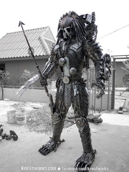 Steampunk Predator : spear by Kreatworks