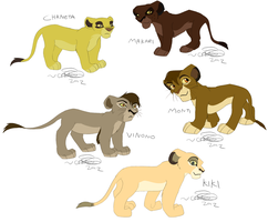 Malezi's Pride (cubs) by KoLioness
