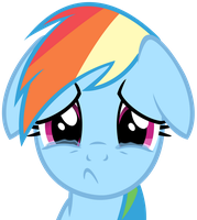 Sad Rainbow Dash by IamthegreatLyra
