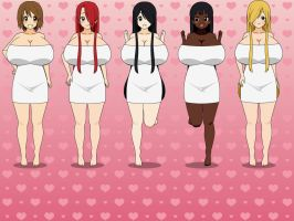 My OCs in Hot Springs Towels by Legodecalsmaker961