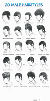 20 Male Hairstyles by gunzy1