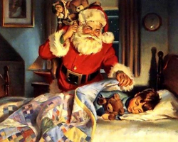 Good Night Santa Claus by myjavier007