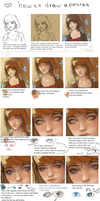 How to draw a portrait ^_^ tutorial by Nieris
