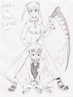 Soul Eater and Maka by anime-fan-addict