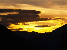 Sunset in the Rockies by AgilePhotography