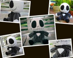 Crocheted Baby Jack Skellington Collage by aphid777