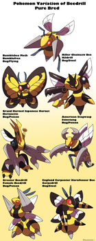 Pokemon Subspecies Beedrill by Phatmon