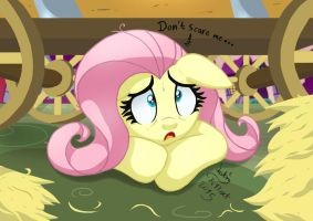 MLP FIM - Scared Fluttershy On Nightmare Night by Joakaha