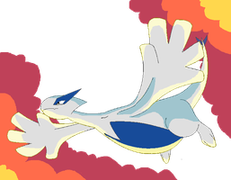 Lugia Soaring by CoaCoaIcing