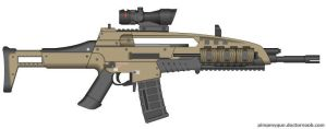 Black Ops 2 M8A1 (Final Version, ACOG Scope) by Scarlighter