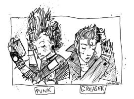punk and greaser. by boobookittyfuck