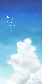 Practice: Sky + Cloud Painting by adozendreams