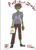 fast food zombie by Jaquina