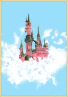 There is a castle on a cloud by IkilledMyElegance
