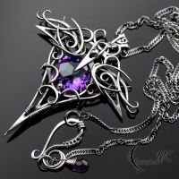 ENTHYRILL - silver and amethyst by LUNARIEEN