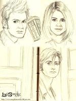 The Doctor and Rose sketch by leelastarsky