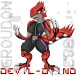 Anthro Groudon - Gym VER by Devil-D-IND