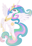 Princess Celestia Posing (2) by 90Sigma