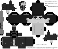Cubee - 2nd Doctor 'B-W' by CyberDrone