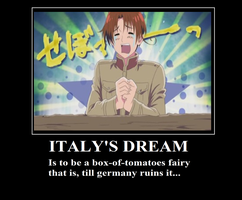 hetalia: italy motivational poster by XEPICTACOSx