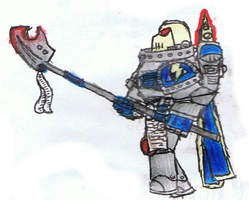 Space Marine Halberdeer by Super-Wooper
